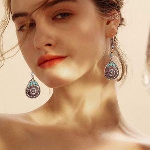 🆕 Boho Chic Tear Drop Bead Statement Earrings